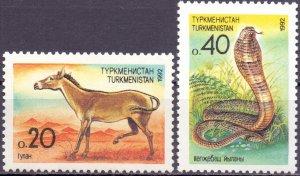 Turkmenistan. 1992. 2-3. Fauna. MNH.