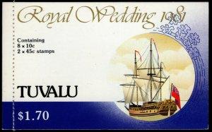 Tuvalu - Sc #157a &160a Booklet Entire - Princess Diana Royal Wedding 1981 - MNH