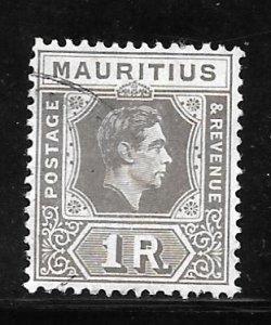 Mauritius 219: R1 George VI, used, F-VF