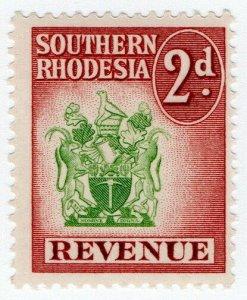(I.B) Southern Rhodesia Revenue : Duty Stamp 2d