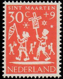 1961 Netherlands #B358-B362, Complete Set(5), Hinged