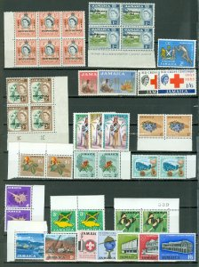 JAMAICA LOT of 90 incl. 12 SETS...MNH..$60.00