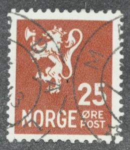 DYNAMITE Stamps: Norway Scott #197 - USED