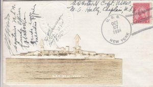 1934, USS New York, BB-34, Autographed by Members of the Crew (N2732)