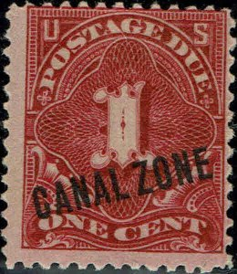CANAL ZONE #J1 1914 CANAL ZONE OVERPRINT ON U.S. 1 CENT POSTAGE DUE ISSUE--MINT