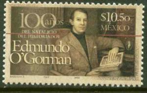 MEXICO 2534, Edmundo O'Gorman, historian Cent of his Birth. MINT, NH. F-VF.