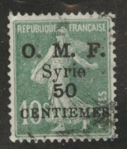Syria Scott 61 Used 1922 overprinted stamp