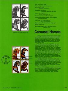 US SP1153 Carousel Horses 2979a Souvenir Page FDC