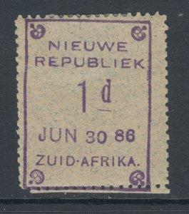 New Republic Sc 19 var, SG 26, MLH 1886 1p violet on granite, JUN 30 86 date