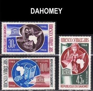 Dahomey Scott C43-45 F to VF mint OG NH.