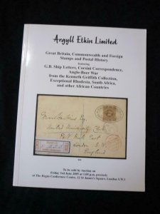ARGYLL ETKIN AUCTION CATALOGUE 2005 WITH ANGLO-BOER WAR FROM KENNETH GRIFFITH