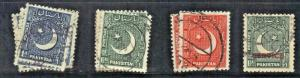 PAKISTAN   SC# 47 48 49+22 **USED** 1948-53   SEE SCAN