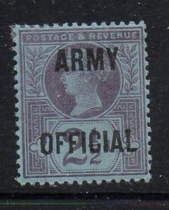 Great Britain Sc O56 1896 2 1/2d Victoria Army Official stamp mint