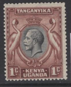 KENYA, UGANDA & TANGANYIKA SG110 1935 1c BLACK & RED-BROWN MTD MINT