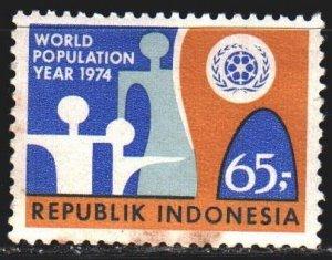 Indonesia. 1974. 786. World Population Year. MVLH.