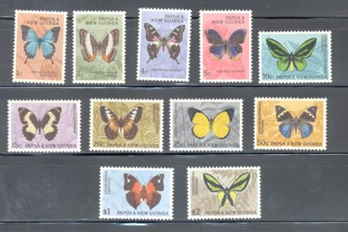 Papua New Guninea 209/214 Butterflies stamp set mint NH