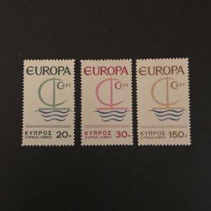 Cyprus 1966 #275-7 MNH SCV $4.75