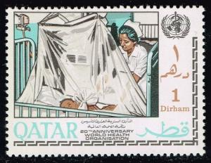 Qatar #134 Nurse Tending to Baby; MNH (0.75)