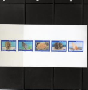 Senegal 1997 Shells Strip of 5  DELUXE SS MNH Sc#1266