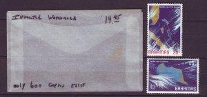 J24186 JLstamps 1981 bahamas mnh scn #487-8 inverted wmk,s
