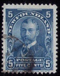 Newfoundland Sc 85 Blue Used Fine