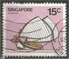SINGAPORE, 1980, used 15c, Junk Scott 339