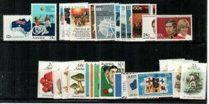 Australia Scott 771-83,804-19 Mint NH (1981 Commemorative Year Set) - CV $22.10