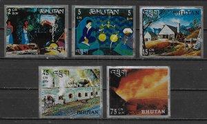 Bhutan 103-103D Steel Making short set MNH
