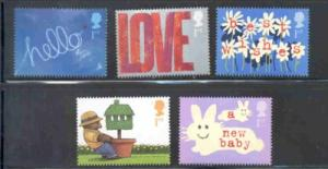 Great Britain Sc 2024-28 2002 Special Occasions stamp set  mint NH