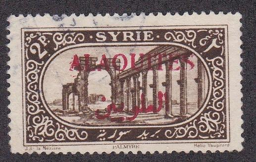 Alaouites # 32, Syrian stamp overprinted, Used,