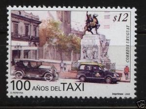 taximeter taxi cab Car vehicle oldies gaucho horse URUGUAY #1980 MNH STAMP cv$2