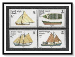 British Virgin Islands #480-483 Local Boats Set MNH