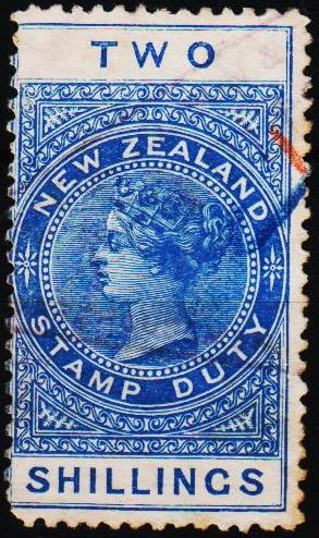 New Zealand. Date? 2s Stamp Duty. Fine Used