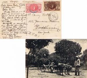Dahomey 2c and 10c Faidherbe 1911 Porto Novo, Dahomey et Depces. PPC (Dahomey...