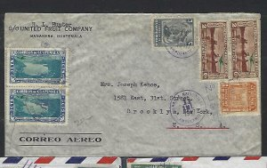 GUATEMALA  COVER (P2709B) 1947 1C+2CX2+3CX3, 2 DIFF A/M TO GERMANY