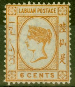 Labuan 1880 6c Orange-Brown SG6 Fine & Fresh Mtd Mint Signed Richter