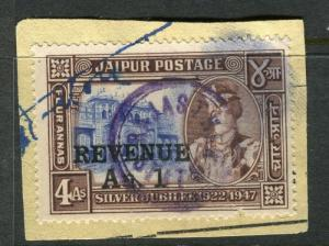 INDIA;   JAIPUR early REVENUE A. 1 surcharged fiscal cancel on piece