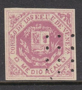 VENEZUELA  An old forgery of a classic stamp................................D812