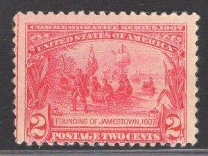 US Stamp #329 2c Carmine Founding of Jamestown MINT NH  SCV $80.00