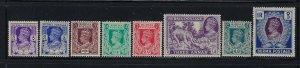 BURMA SCOTT #19/20/22/23/24/26/28/30 1938-40 GEORGE VI PARTIAL SET- MINT LH/NH