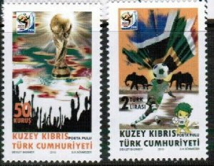2010 TURKISH CYPRUS - FIFA - SOUTH AFRICA  - UMM STAMPS
