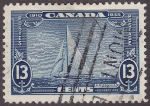 Canada 216 USED 1935 King George V Silver Jubilee 13¢