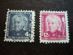 Stamps - Cuba - Scott#534,C108 - Used Set of 2 Stamps