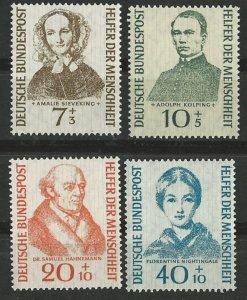 Germany # B344-47  Helpers of Mankind    (4) VF Unused VLH