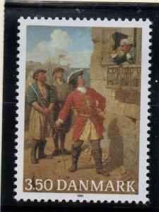 Denmark  Scott 928 1990 Peter Wessel stamp mint NH