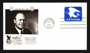 1973 Ford Inauguration Cover - ATA / APS Cachet - Z14229