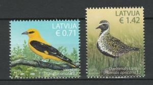 Latvia 2015 Birds 2 MNH stamps