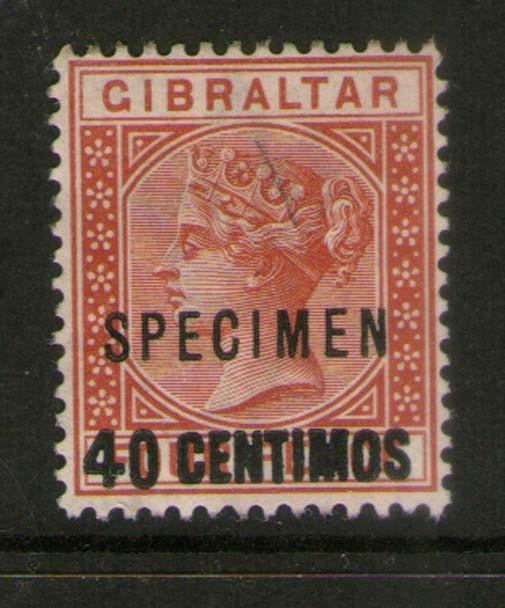 Gibraltar 1889 SG 19 SPECIMENT