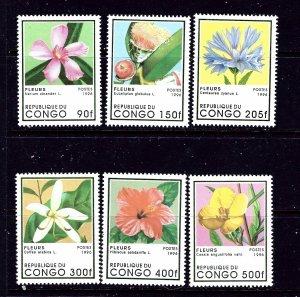 Congo (PR) 1109-14 MNH 1996 Flowers