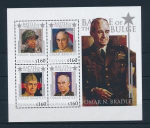 [81185] Guyana 2010 WWII Ardennes offensive General Omar Bradley Sheet MNH